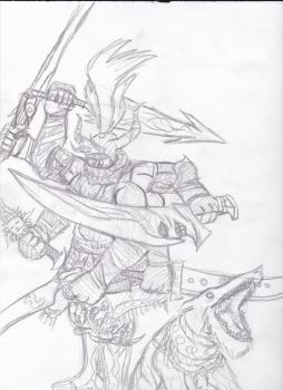 Gilgamesh Sketch by FreeTheCows