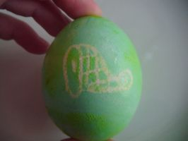 Attempted Creative Easter Eggs- Green Egg With Ham by Ambrosial-Wolf