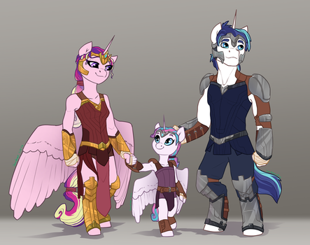 Rebellion AU- Cadence, Shining Armor, Flurry Heart by Joan-Grace
