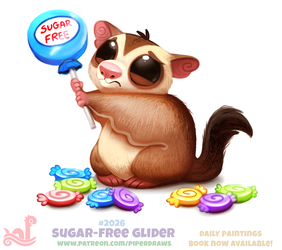 Daily Paint 2026# Sugar-Free Glider by Cryptid-Creations