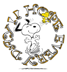 Snoopy and Woodstock ''Hope Every Day!!'' by dolphinandcow