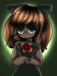 Sprout-chan in the dark by Rainbowdoodler209