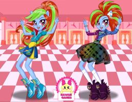 Rainbow Dash School Spirit Style Dress Up by heglys