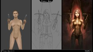 Process steps (Demon Hunter, Diablo 3) by YeshuaNel