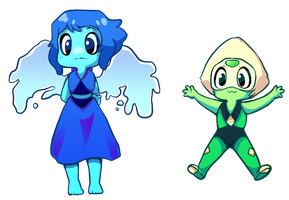 Lapis and Peridot // Transparent by Arkay9