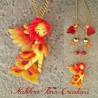 Phoenix Doll Polymer Clay by Nakihra