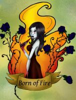 Born of Fire - Jane The Killer (Computer colored) by SomebodyOutHere