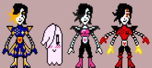 Undertale Mettaton Pixel Version Part 1 by Cabbt
