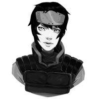 Motoko sketch by AaronNSN