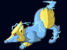 Playful Manectric by vireosy