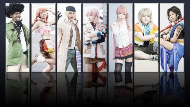 FF13 Characters Collage by ruby-hearts