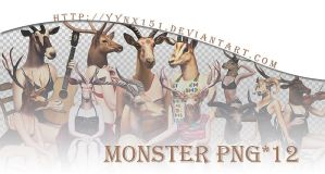 Monster png pack #02 by yynx151