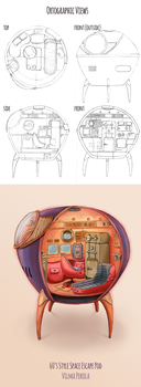 Escape Pod from 60's by Sirtuuna
