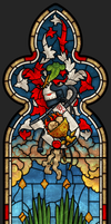 St. Alicia Dominica, stained glass by forArkan