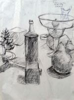 10- 1st Charcoal still life from 106 by narutokunobessed