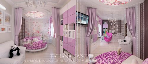 Bedroom for a girl by schWARzz