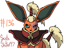 #136 Flareon by SaintsSister47