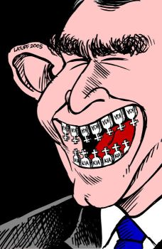 Why is this man smiling? by Latuff2