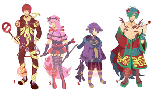 Adoptables 23-26 [CLOSED] by MHWAdopt
