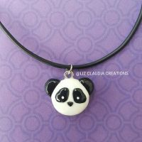 Panda Necklace by LizClaudia