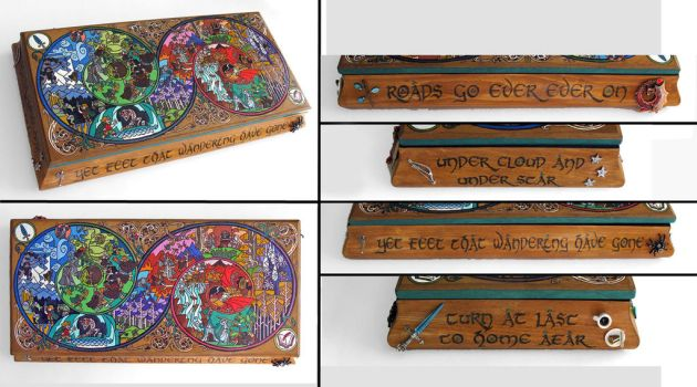 The Hobbit: A Long Adventure-  hand painted box by RFabiano