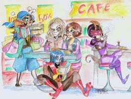 At the BookStore Cafe by oasiswinds