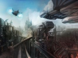 Autobot City Rebuilt Concept Art by HellBurger