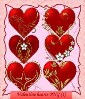 Valentine hearts PNG-1 by roula33
