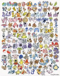 GEN 1 POKEMON (FROM MEMORY!) by KaseyTheGolden