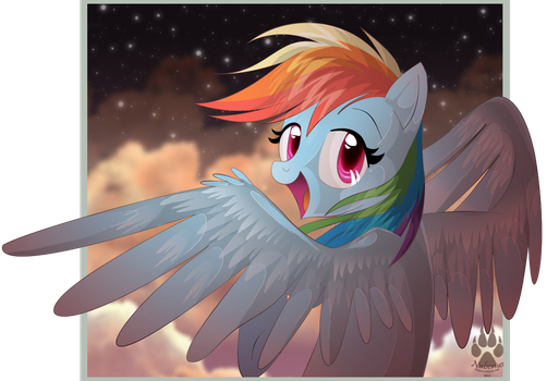 Animu Rainbow Dash by NabbieKitty