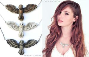 Owl Necklaces by Ideationox