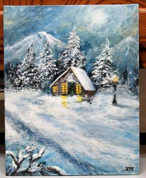 Winter Cottage by ThisArtToBeYours