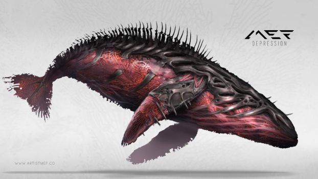 Red Whale by ArtistMEF