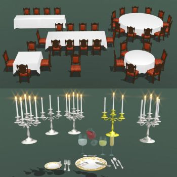 DL SERIES dining set  by Bindi-the-skunk