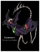 Daemeon: Ghost Type Eeveelution (fakemon) by skellington1