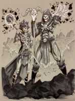 COMMISSION: Skeletor and Evilynn by Shono