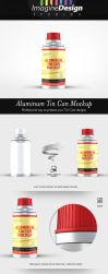 Aluminum Tin Can Mockup by idesignstudio