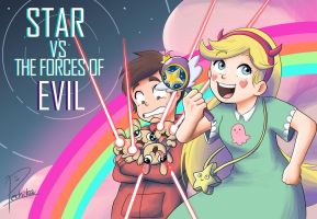 star vs. the forces of evil by Pechika-f