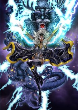 strom with dragon