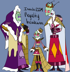 IZ Royalty headcanon Zim and his parents ref by Glitched-Irken