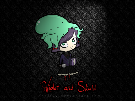 Violet and Skwid by chaffyy