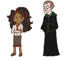 Esmeralda and Frollo at Hogwarts by WishIWould