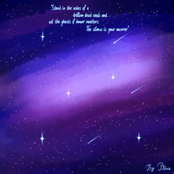 Galaxy And Stars by polina1233