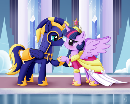 .:MLP Commission Zephyr and Twilight:. by Exceru-Karina