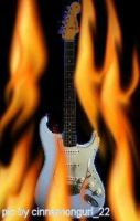 Strat on fire by cinnamongurl22