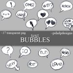 text Bubbles png's by pshelpdesigns