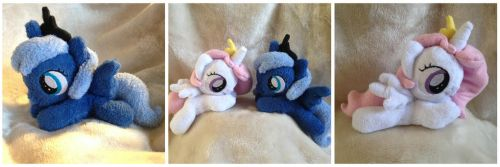 Filly Celestia and Filly Luna Beanie Set by The-Plushatiers