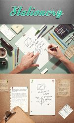 Sketchbook Stationery Scene Creator Mock-up by Ondrejvasak