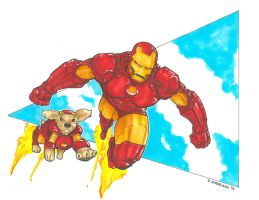 Iron Man and Cocker by DKHindelang