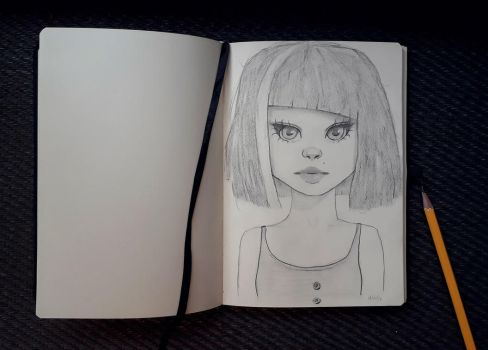 Sketch of female character IV by IamUman